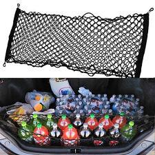 Car Trunk Rear Cargo Organizer Storage Elastic Mesh Net Holder 4 Hooks #XLW