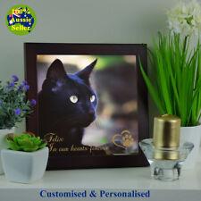 Personalised Memorial Photo Plaque for Cat Pets. Ceramic Durable Quality Finish