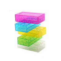 5Pcs 18650 CR123A 16340 Hard Plastic Transparent Battery Box Holder Dyqq V4W6