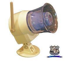 Wireless OutDoor Siren & Flashing Light Use With HomeSafe Sensors or Alarm Sys