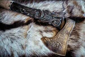 Eagle Engraved Hand forged Viking Axe / Best Birthday Anniversary Gift For Him
