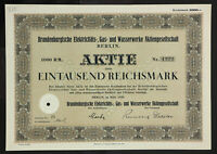 GERMANY 915/W&E -Brandenburgische Elektricitäts-Gas-und Wasserwerke Aktiengesell