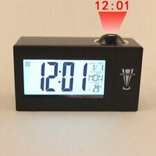 Reloj Despertador proyección LED proyección de techo LED repetición de alarma temperatura fecha día