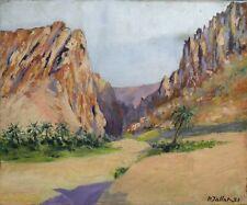 Paul JALLAT (1924) paysage orientalisme né à Cholet Maine-et-Loire Nantes maroc