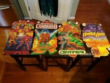 4 Atari SIGNS 1982 DOUBLE SIDED Tempest Missile Command Haunted House Centipede