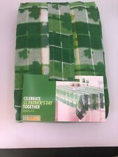 St Patrick'S Day Shamrock Tablecloth Oblong 60x84 Cotton/Poly Brand New!