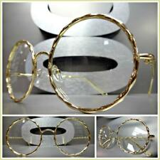 Men or Women VINTAGE RETRO Style Clear Lens EYE GLASSES Round Gold Fashion Frame