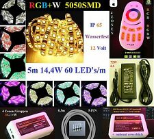 SET Mi-Light 4 Zonen 5m LED Stripe Dimmbar RGB+W RGB+WW SMD5050 IP65 Wasserfest