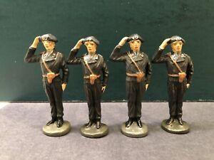 Elastolin: Rare German Panzer Grenadiers At Attention. Pre War c1940