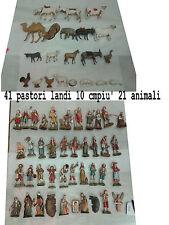 41 pastori landi 10 cm piu 21 animali moranduzzo presepe crib shepherds
