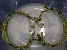 Handmade Adjustable Bracelet Green Celtic Pair Of Authentic Four Leaf