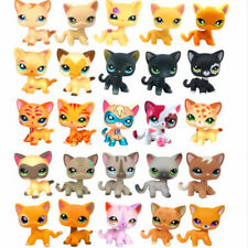 Rare Animal pet shop short hair cat cute little black kitty lps dog for kids