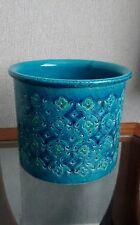 Vintage Blue Bitossi Aldo Londi Rimini Planter / Plant Pot