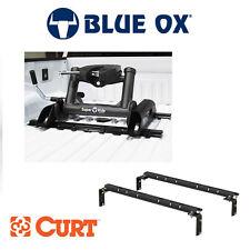 Blue Ox SuperRide 20K 5th Wheel Hitch Slider & Curt Universal Bed Rail Kit Combo