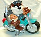 Taz Tasmanian Devil on Motorcycle Harley Hog Ceramic Cookie Jar WB Studio Store
