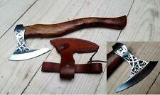 Handmade Combat Forged Tomahawk Throwing Viking Hatchet Axe Free Leather Sheath