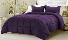 King Size All Season Down Alternative Comforter Egyptian Cotton Purple Striped