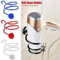 Alloy Hair Dryer Holder Bathroom Shelf Storage Wall Hanger For Home Hotel