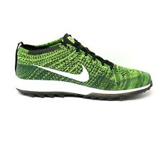 Nike Flyknit Racer G Volt Black Sequoia Green Golf Shoes Cleats Mens Size 12