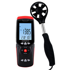 Air Flow Meter Wind Direction Speed Velocity Anemometer Datalogger Temperature