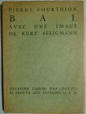 Collection Douze, Pierre Courthion, Édition G.L., Kurt Séligmann, Kunst,