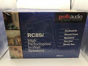 "Polk Audio RC85i In-Wall 8"" 2-Way Premium Speakers - White - New Unused"