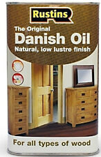 Rustins 1L DANISH OIL for Worktops and Wood  - 1 Litre Can 1LTR