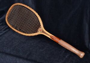 RARE Vintage Antique Wood 1910 Bulbous Grip Alexander Taylor Tennis Racket