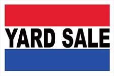 "Yard Sale Advertising Banner Sign 24""X 36"" Vinyl Business RWB"