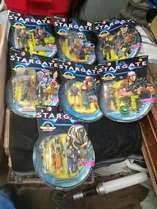 1994 Hasbro STARGATE Set of 8 Action Figures New in Packages Ra Horus Anubis