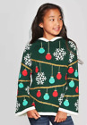 Well Worn Girls' Ugly Christmas Tree Poncho Sweater Size XS (4-5) Extra-Small