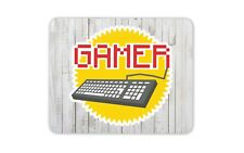 Retro Gamer Mouse Mat Pad - Commodore Keyboard Gaming Fun Gift PC Computer #4199