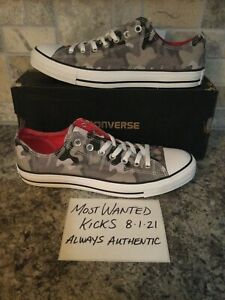DS Converse All Star Chuck Taylor Low Grey Camo Sz 9.5 Mens 11.5W FREE SHIPPING!