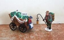 Dept 56 Dickens Chelsea Market Mistletoe Monger & Cart #58262 Nib (Y323)