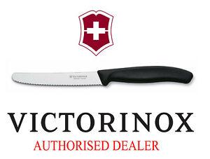 Victorinox Black Tomato Steak Knife Ultimate Swiss Cutlery ORIGINAL Table!_