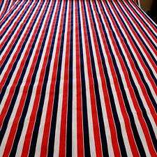 VINTAGE RETRO STRIPED COTTON FABRIC 113cm x 100cm