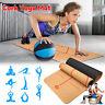 TPE Cork Yoga Thick Mat Exercise Fitness Gym Pilates Eco Anti-wrinkle Non-slip
