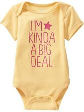 "Old Navy ""I'm Kinda A Big Deal"" Bodysuit Infant / Baby Girl Clothes, 0-3 months"