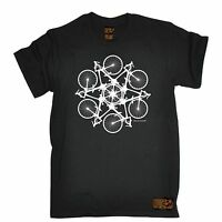 Bicycle Circle Kaleidospoke T-SHIRT Cycling Bike Cyclist Bmx birthday gift