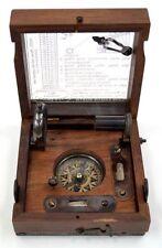 marine navigation box mit glasdeckel ~ fernrohr, kompass, alidade, ebene usw.