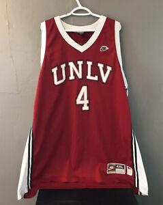 1990 Vintage NCAA Nike UNLV Runnin' Rebels Larry Johnson Swingman Jersey 4XL