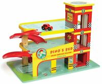 Le Toy Van CARS & CONSTRUCTION DINO'S GARAGE Wooden Toy BN