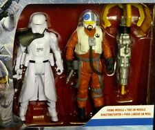 Star Wars First Order SNOWTROOPER OFFICER v SNAP WEXLEY New 2-Pack Force Awakens
