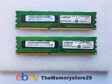 16GB 2 x 8GB Crucial  DDR3 ECC Memory RAM Modules PC3L-10600E 1333MHz DIMM