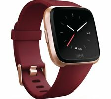 Fitbit Versa - Ruby & Rose Gold Activity Exercise and Sleep Tracker