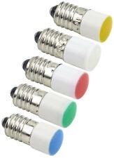 10mm E10B LED Screw Indicator Light Bulb 24V 110V Blue Green Red Yellow White