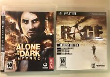 Alone in the Dark Inferno & RAGE Lot - COMPLETE (Sony PS3) Bundle