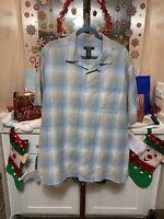 David Taylor Collection Men's Plaid Button Down Shirt Size XL