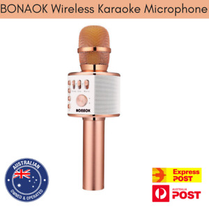 BONAOK Wireless Bluetooth Karaoke Microphone 3-in-1 Portable Android/iPhone