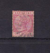 Barbados : 1882 Penny ( Queen Victoria ) Used